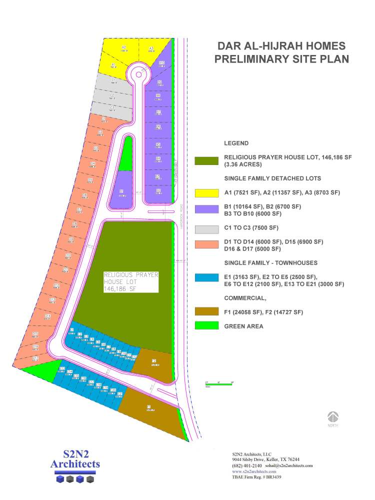 Dar Al-Hijrah Homes Site Plan